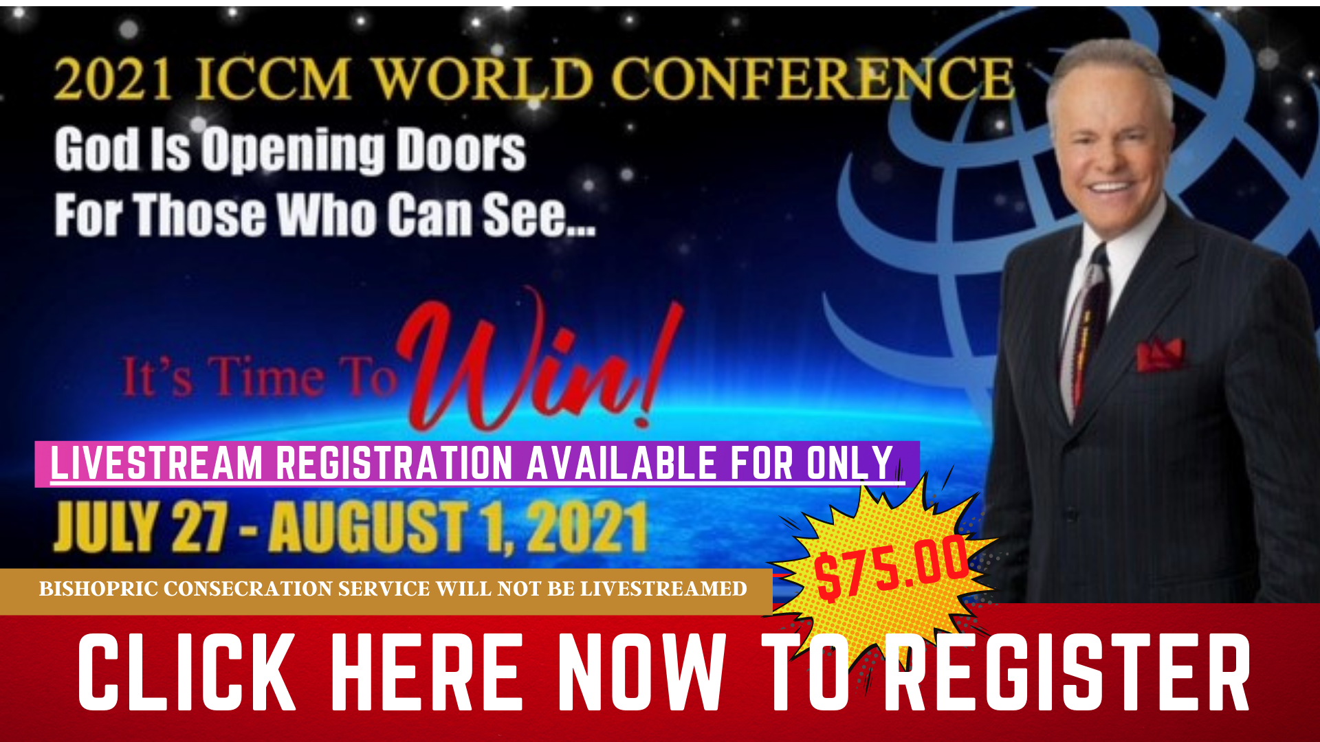 2021 World Conference LIVESTREAM July 27th - August 1st